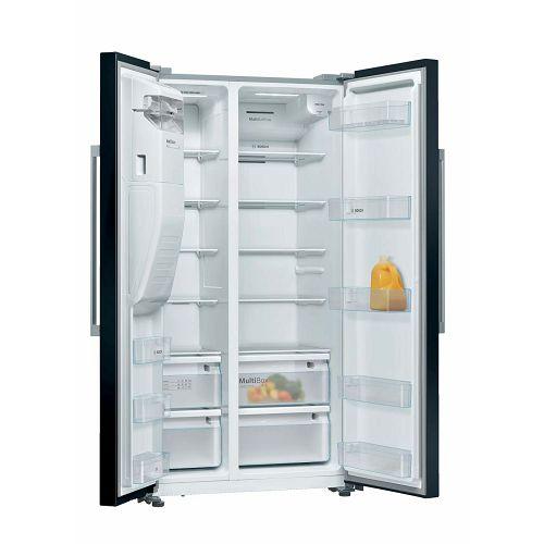 Samostojeći hladnjak Bosch KAD93VBFP, A+, No Frost, 179 cm, side by side hladnjak, crni