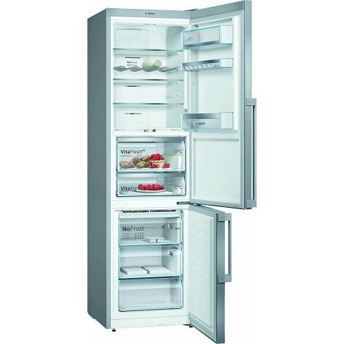 Samostojeći hladnjak Bosch KGF39PIDP, A+++, No Frost, 203 cm, kombinirani hladnjak, inox
