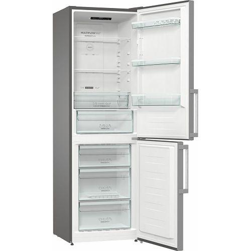 Samostojeći hladnjak Gorenje NRK6191ES5F, A+, 185 cm, No Frost, kombinirani hladnjak, inox