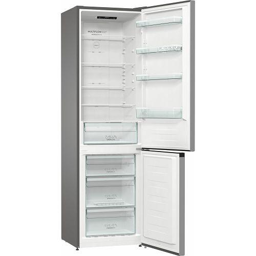 Samostojeći hladnjak Gorenje NRK6202ES4, 200 cm, No Forst, kombinirani hladnjak, inox