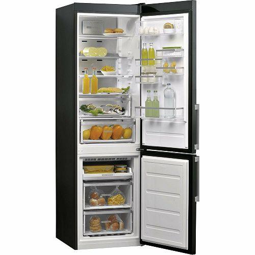 Samostojeći hladnjak Whirlpool W9 931D KS H, A+++, No Frost, 201 cm, kombinirani hladnjak, crni