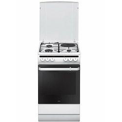 Samostojeći štednjak Amica 58ME4.38HZpMs(W), kombinirani 3+1, bijeli