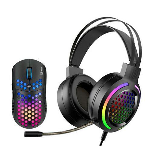 Set miš i slušalice Marvo Scorpion MH01BK, RGB
