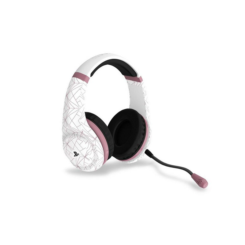 Slušalice 4Gamers Ps4 Stereo Gaming Headset Rose Gold Edition - Abstract White