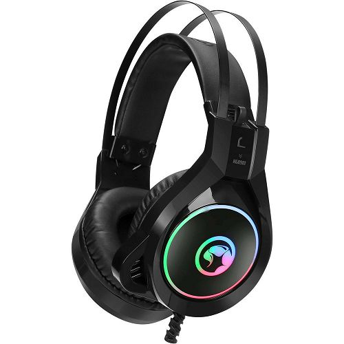 Slušalice MARVO SCORPION HG8901, mikrofon, rainbow, crne