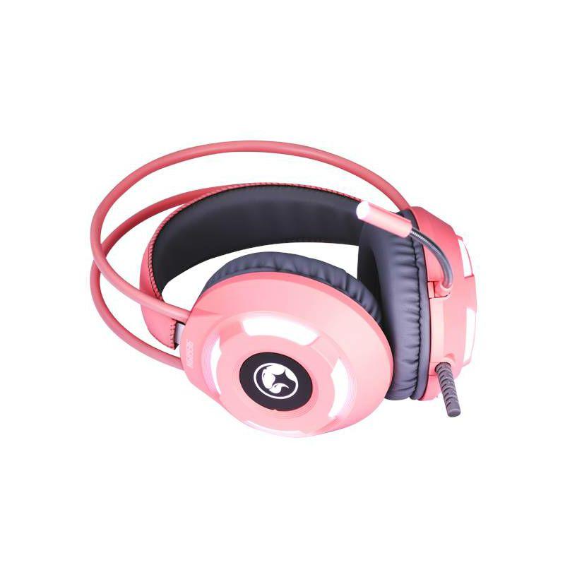 Slušalice MARVO SCORPION HG8936, mikrofon, LED, PC, roze