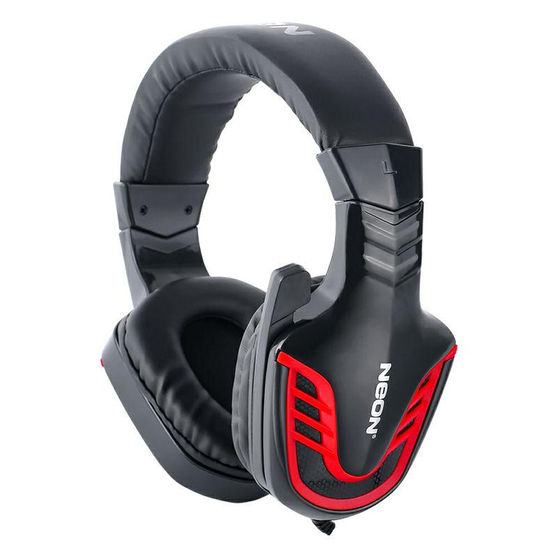 Slušalice + mikrofon NEON HADES, crno - crvene, 3,5mm