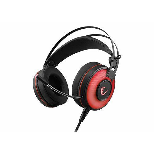 Slušalice RAMPAGE Alpha-X, mikrofon, LED, 7.1 Surround Sound, PC/PS4, crvene