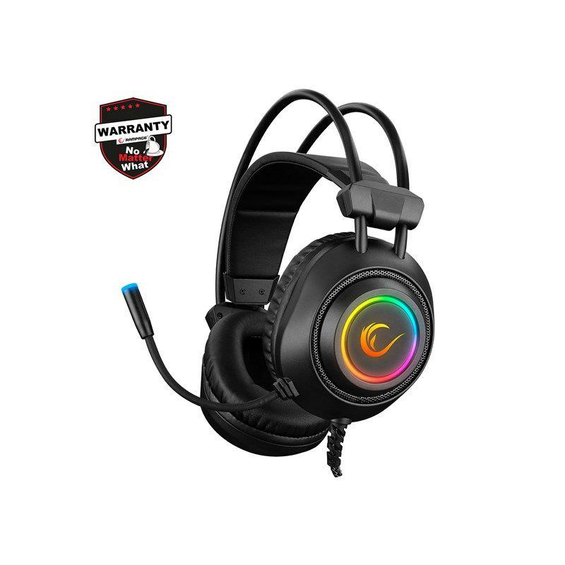 Slušalice RAMPAGE RM-K20 Amaze Black, mikrofon, 7.1, PC/PS4/PS5, RGB, crne