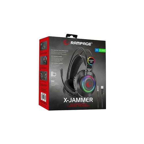 Slušalice RAMPAGE RM-K27 X-JAMMER, mikrofon, PC/PS4/Xbox, LED, crne