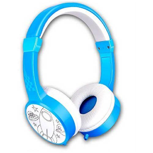 Slušalice SEGMENT H-31115 dječje slušalice s pastelnim bojama, plave