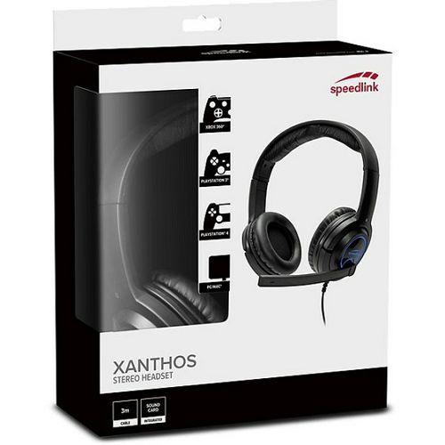 Slušalice SPEEDLINK Xanthos, mikrofon, PC/PS3/PS4/Xbox 360, crne