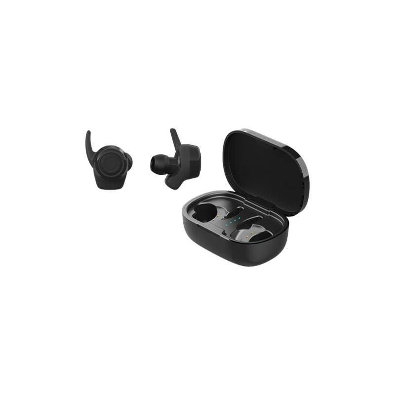 Slušalice STREETZ TWS-112, SPORT, mikrofon, Bluetooth 5.0, TWS, crne