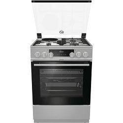 Štednjak Gorenje K6351XC, 60 cm, kombinirani, sivi