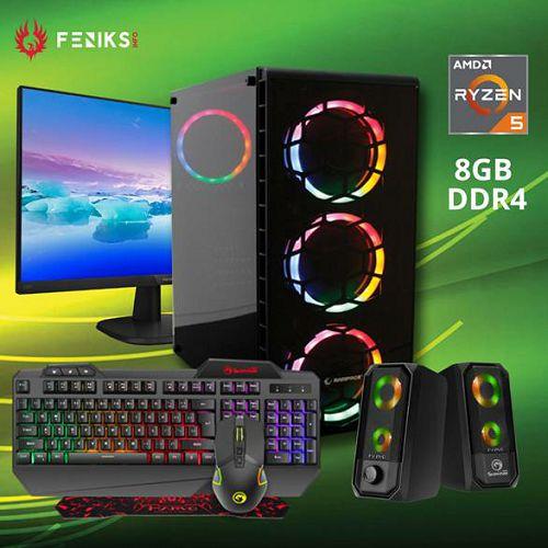 Stolno računalo (komplet) Scorpion SX 20078 AMD RYZEN 5 3400G/8GB DDR4/SSD 250GB/Set tipkovnica+miš+podloga/monitor/zvučnici