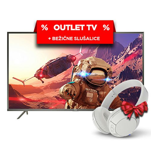 "TCL LED TV 43"" U43P6046, UHD, Android TV (outlet uređaj)"