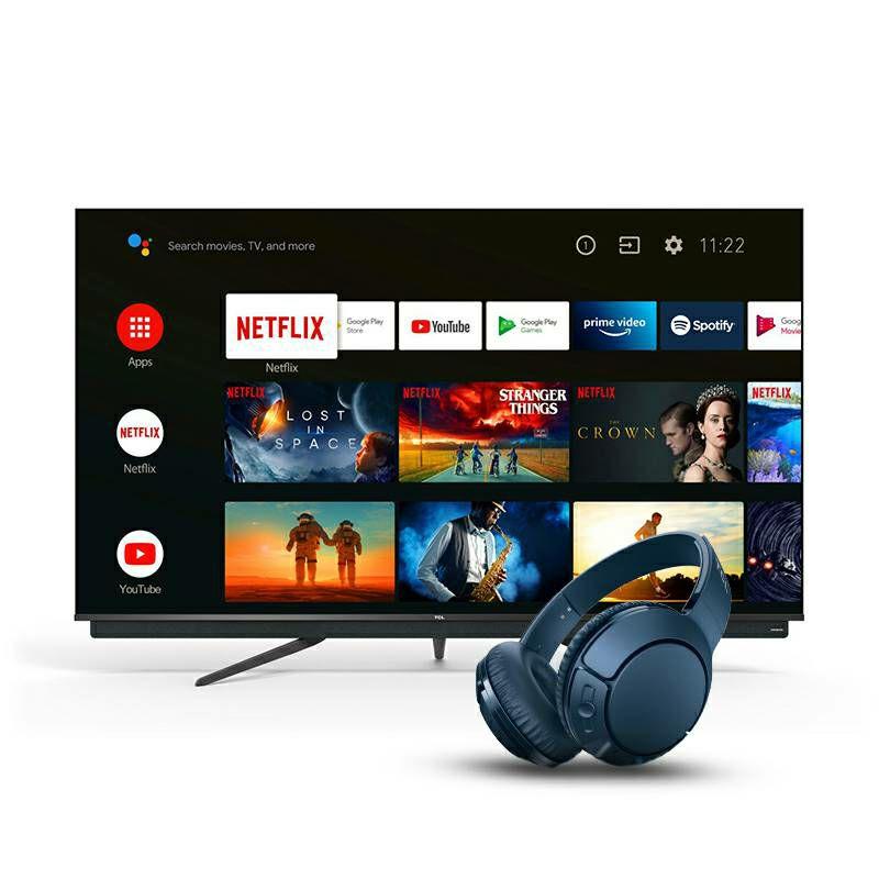 "Televizor TCL 55"" 55C815, QLED, 4K Ultra HD, DVB-T2/C/S2 HEVC/H.265, HDR10, AndroidTV"