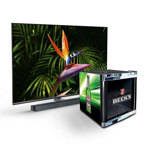 """Televizor TCL 65"""" 65X10S, Mini LED, 4K Ultra HD, DVB-T2/C/S2 HEVC/H.265, HDR, AndroidTV + BECKS mini hladnjak NDKS62"""