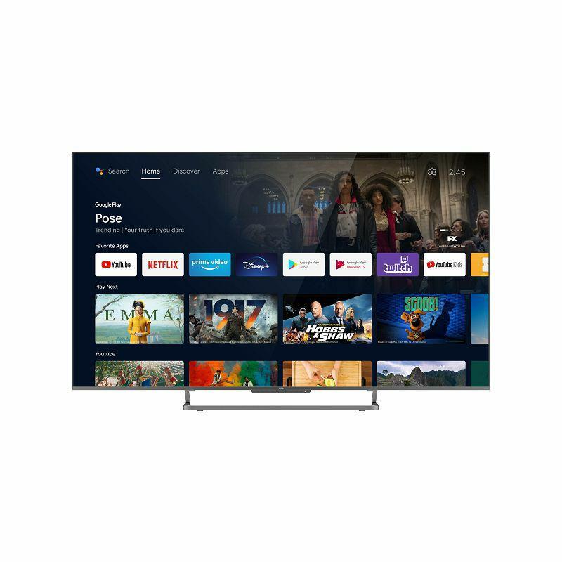 """Televizor TCL QLED TV 55"""" 55C728, 4K Ultra HD, DVB-T2/C/S2 HEVC/H.265, Android TV"""