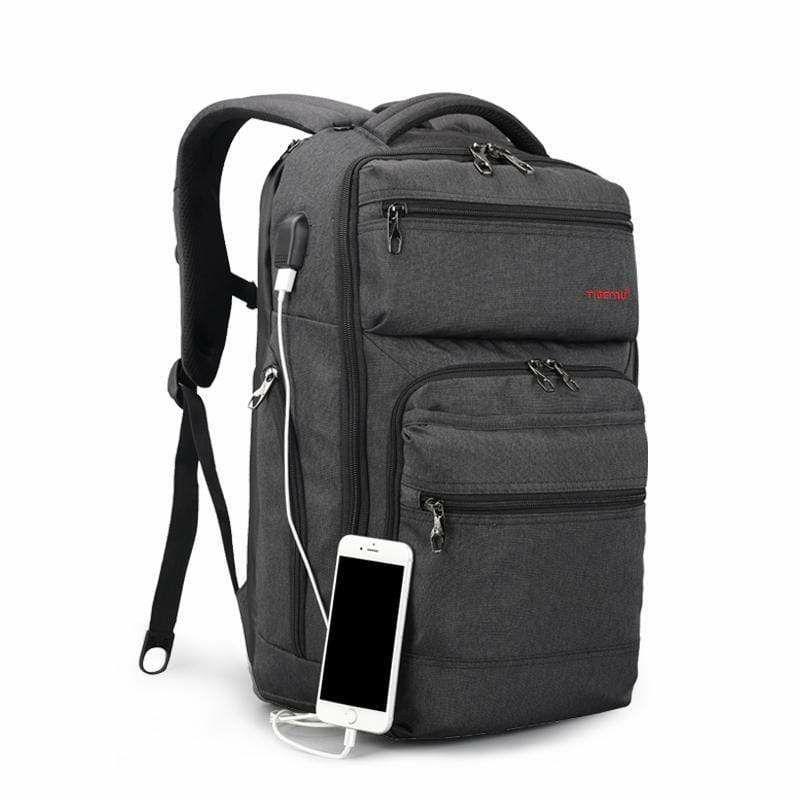 """TIGERNU ruksak za laptop T-B3242USB 15.6"""" crni sivi"""