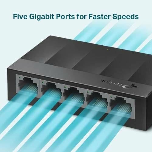 TP-Link LS1005G, 5-port Gbit switch, plastično