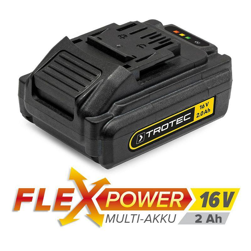 Višenamjenska punjiva baterija Trotec Flexpower, 16 V, 2 Ah