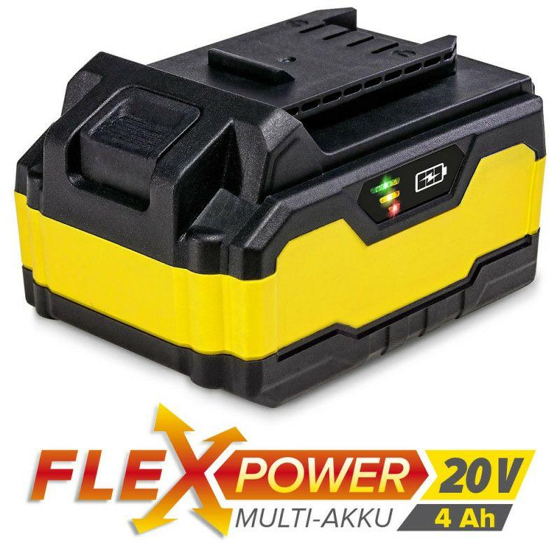 Višenamjenska punjiva baterija Trotec Flexpower, 20 V, 4 Ah