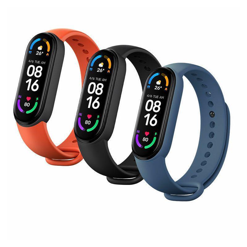 Zamjenske narukvice za Mi Smart Band 6 (3 kom), crna, narančasta, plava