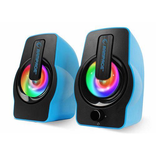 Zvučnici RAMPAGE RMS-G7 Falsetto, LED, 2.0, 6W, plavi