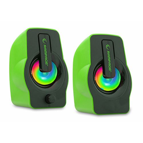 Zvučnici RAMPAGE RMS-G7 Falsetto, LED, 2.0, 6W, zeleni